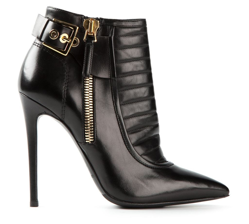 Gianmarco Lorenzi black leather buckled ankle boots