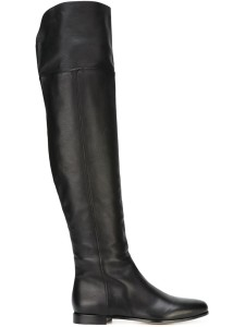 Jimmy Choo Mitty black leather knee high boots
