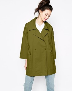 Olive green Monki Oversized Jacket original price $53.75 sale price $32.25