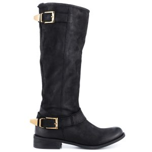 Steve Madden Suspekt Black Leather knee high boots