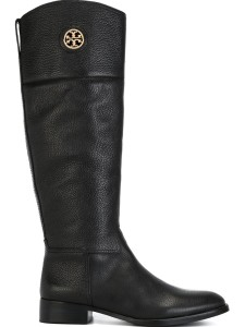 Tory Burch black leather knee high boots
