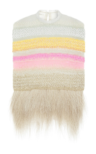 Delpozo hand knit raffia vest