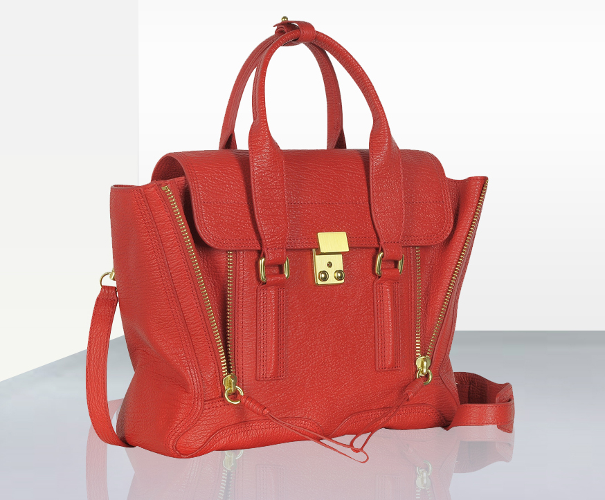 3-1 Phillip lim red leather pashli satchel