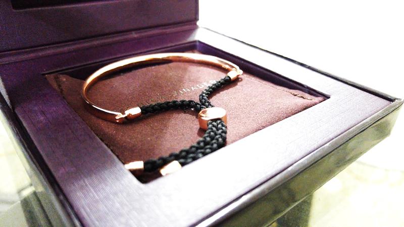 Monica Vinader 18ct Rose Gold Vermeil on Sterling Silver Fiji friendship bracelet