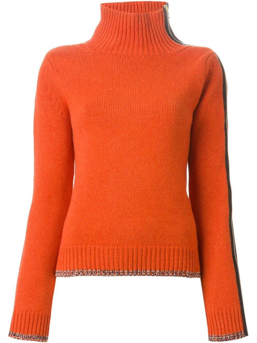 Orange cashmere-wool blend Sarah sweater from Rag and Bone