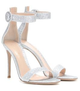 Gianvito Rossi Portofino silver glitter sandals 790 dollars
