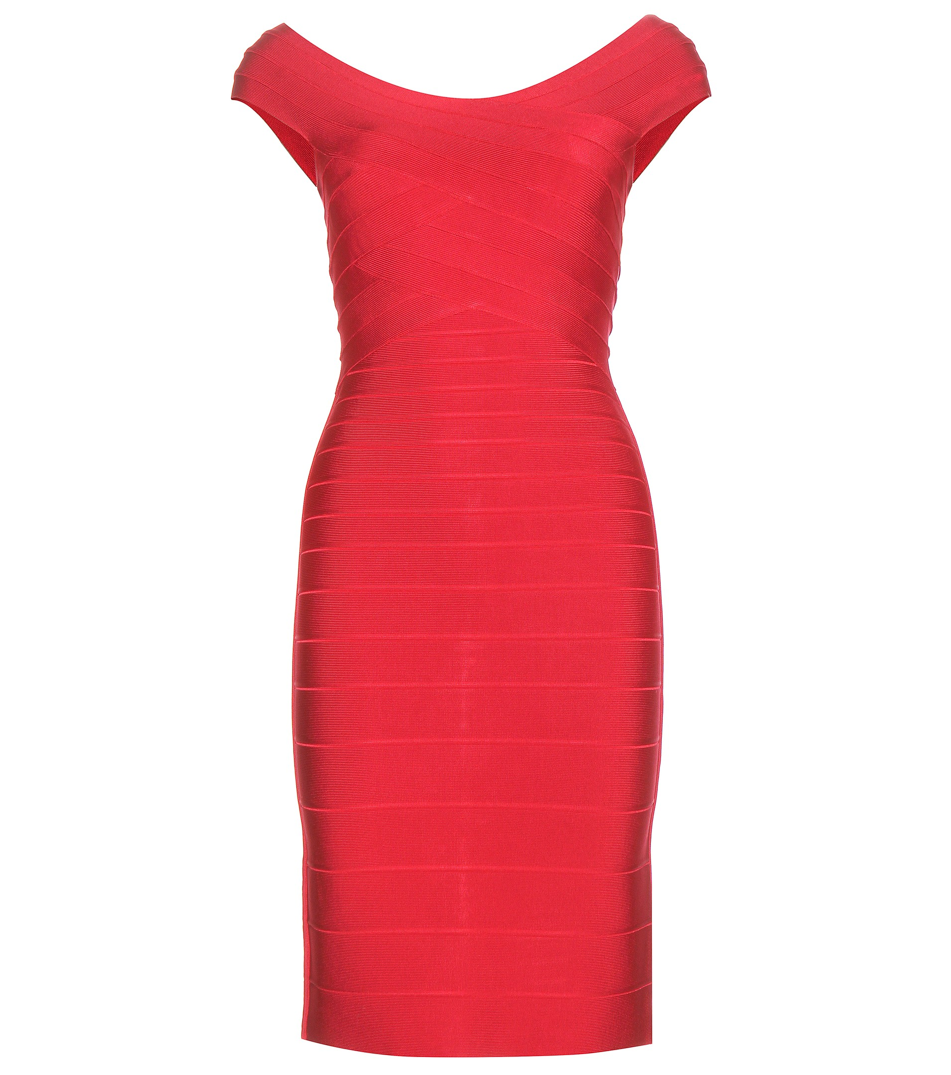 Herve Leger figure hugging lipstick red Tayler bandage dress 2047 dollars