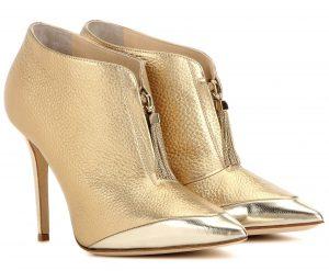 Jimmy Choo Tessa 100 gold metallic leather ankle boots 950 dollars