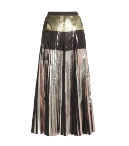 Proenza Schouler coated tricolour gold silver black Metallic pleated midi skirt 1990 dollars
