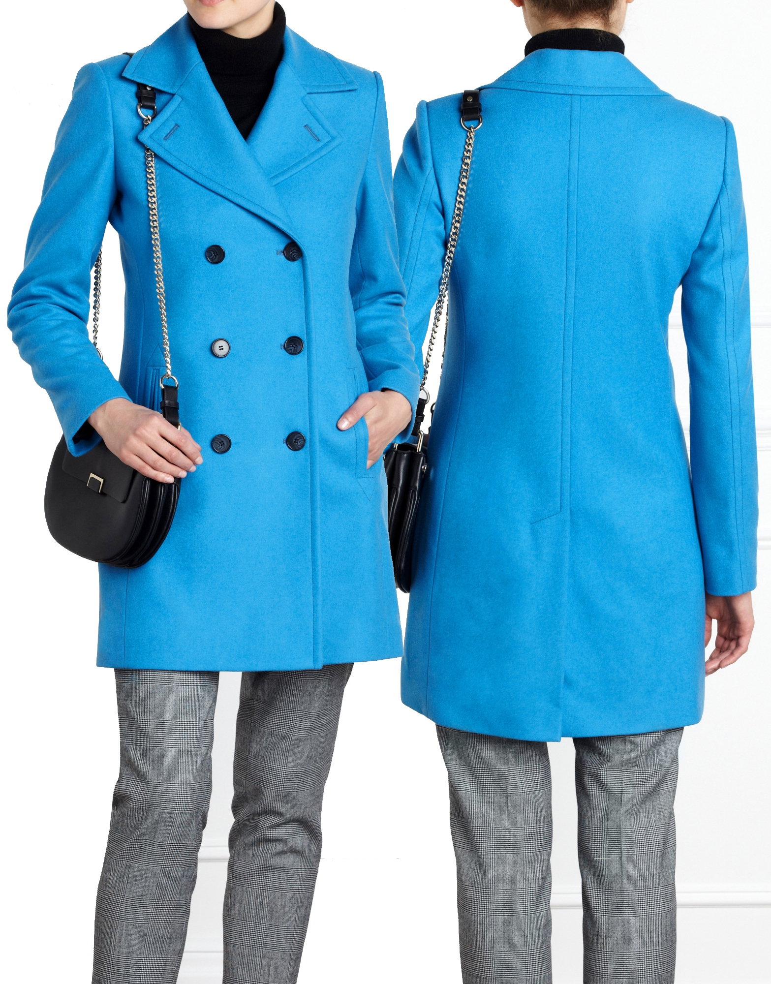Pure Collection true blue cashmere blend peacoat