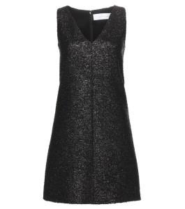 Victoria Victoria Beckham black Lame shift dress 1225 dollars