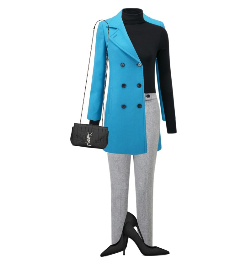 styling your pure collection blue cashmere blend peacoat