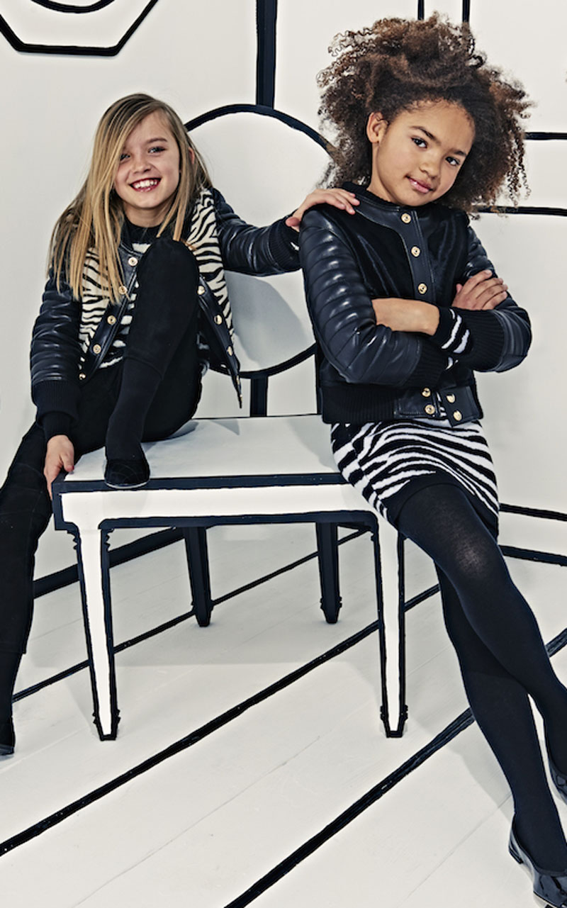 Balmain kids campaign ad photo girls modeling 2