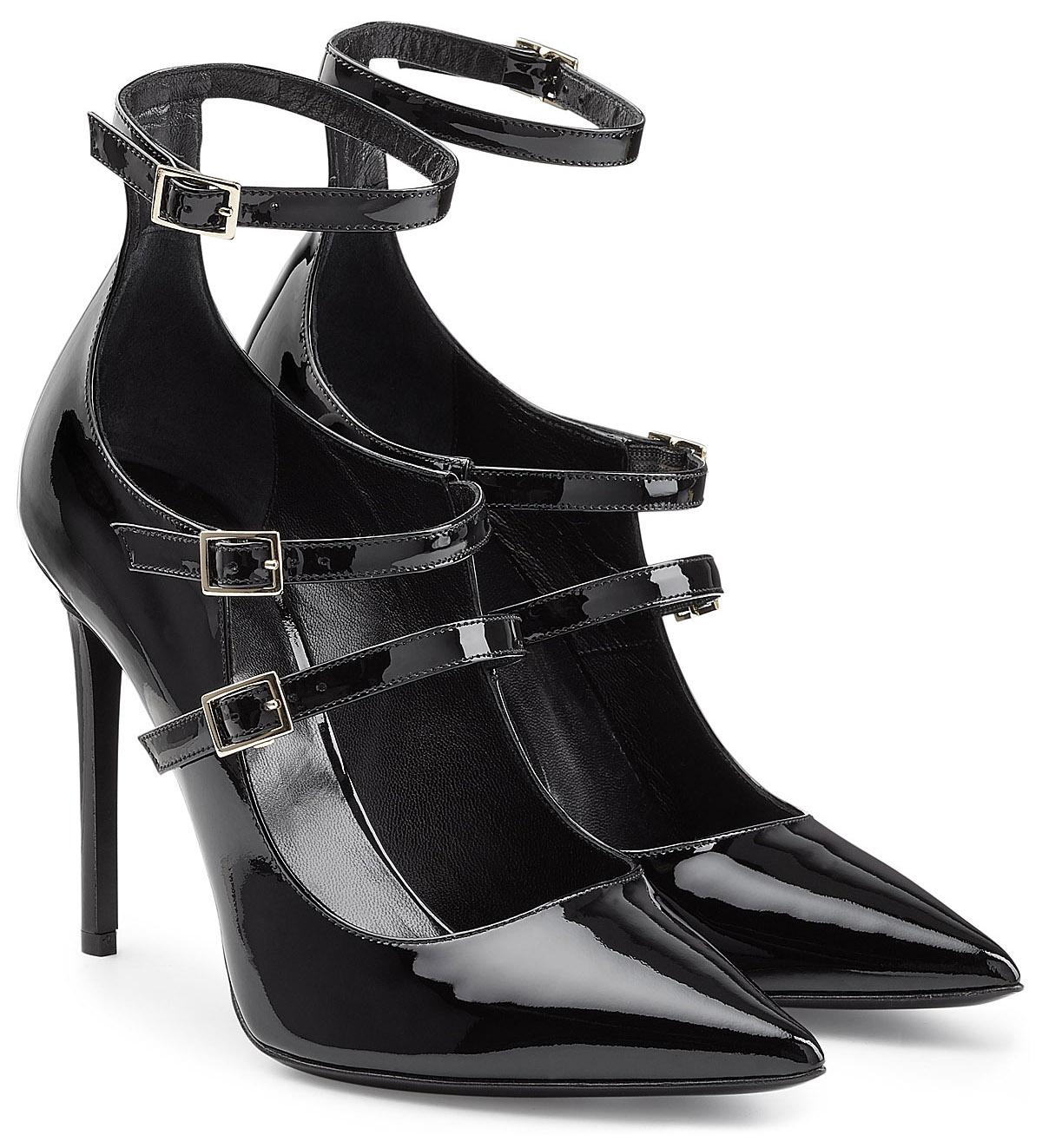 Tamara Mellon black patent leather pumps