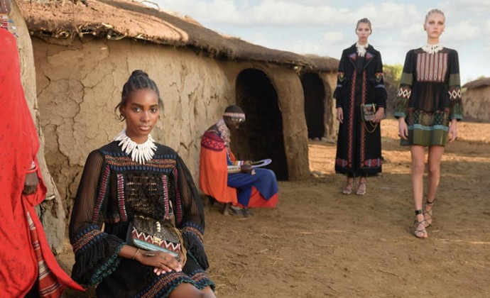 Valentino Spring Summer 2016 ad campaign shot in Kenya by Stephen McCurry
