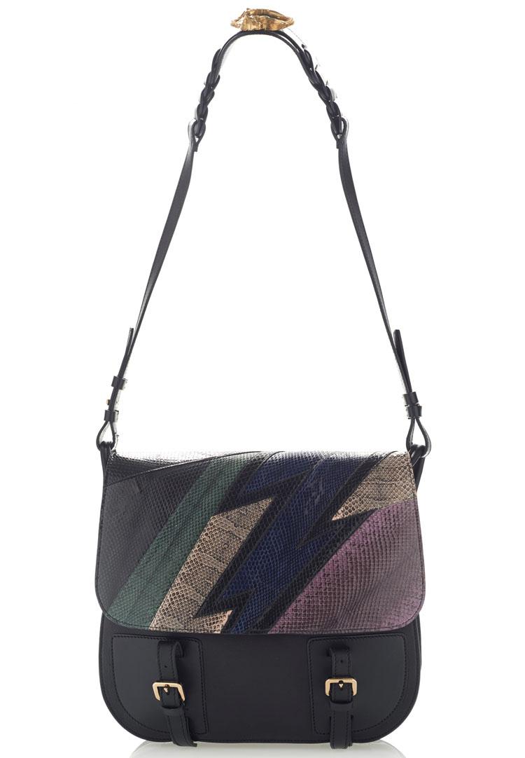 Roberto Cavalli Water snake Borsa Flap Bag