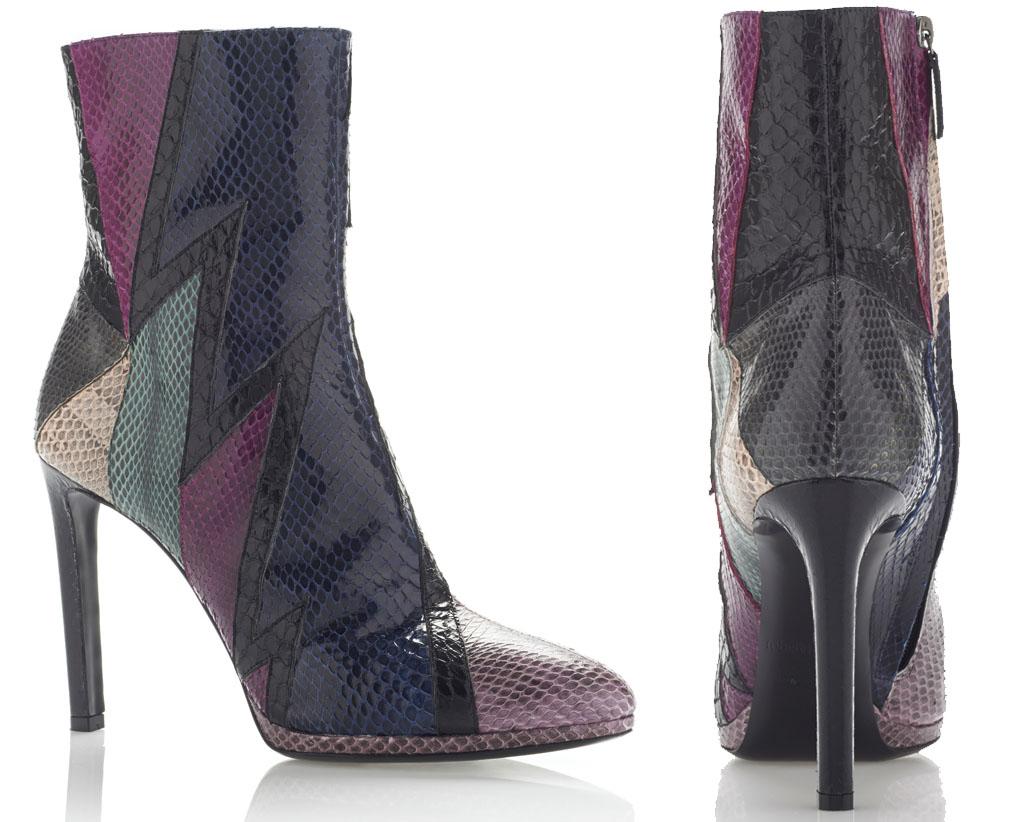 Roberto Cavalli Water snake Scarpa Ankle Boot