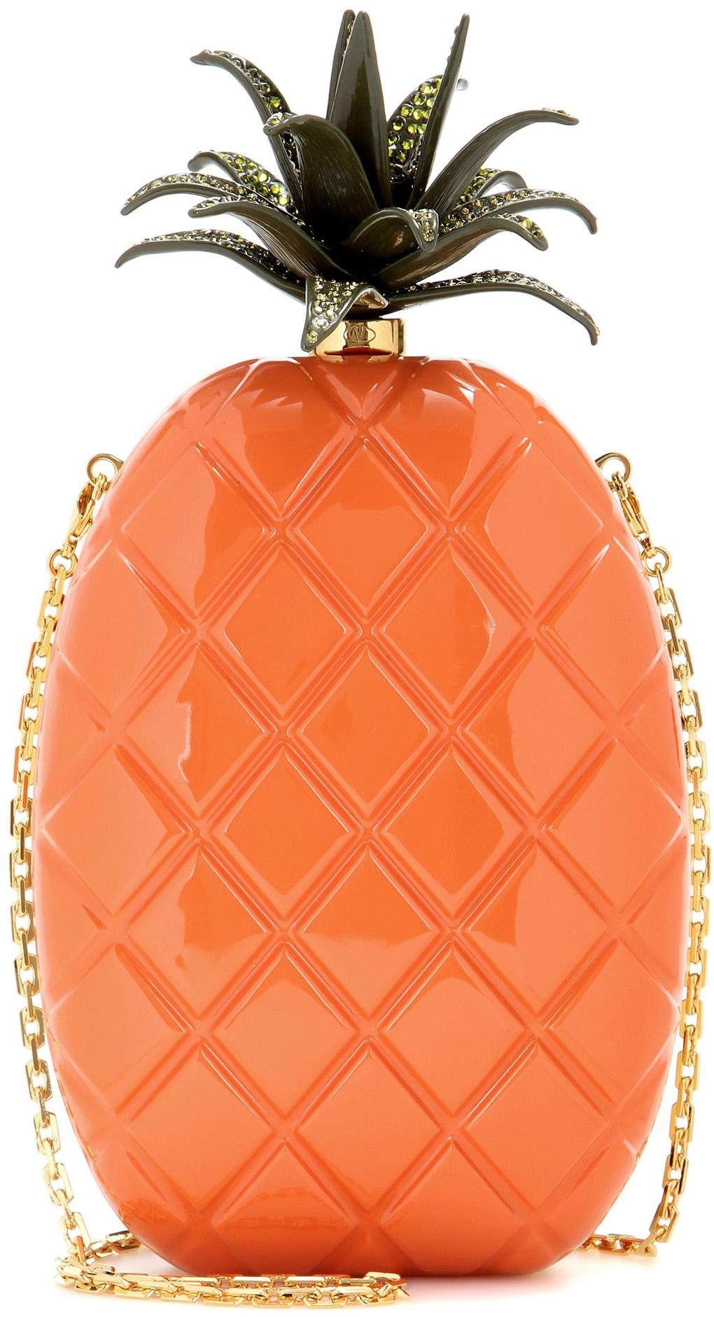 Valentino pineapple box clutch