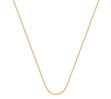 Monica Vinader Gold Vermeil Rolo Chain 24in chain with adjuster