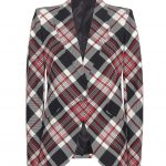 Alexander McQueen tartan-style check wool blazer
