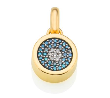 Monica Vinader Gold Vermeil Evil Eye Pendant - Diamond