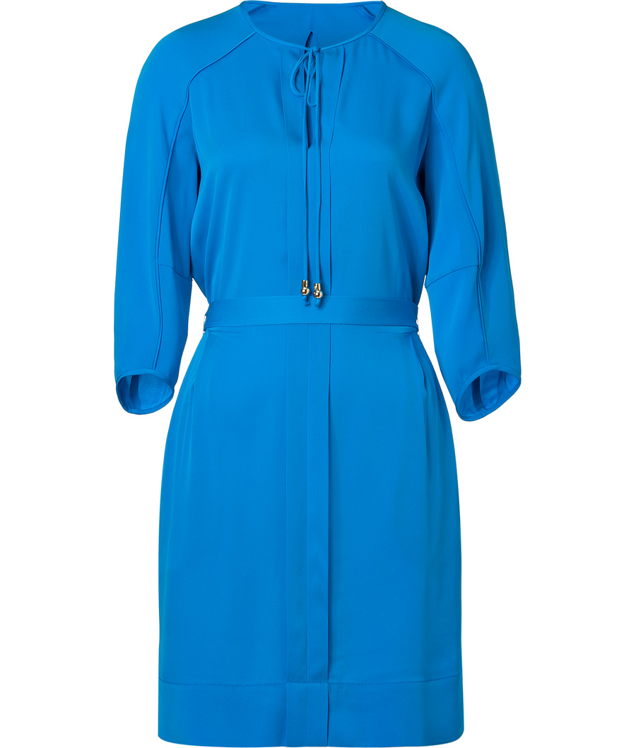 Diane von Furstenberg Electric Blue Silk Apona Dress