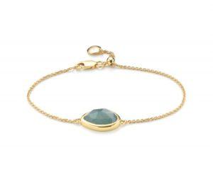 Monica Vinader Gold Vermeil Siren Teardrop Bracelet - Aquamarine