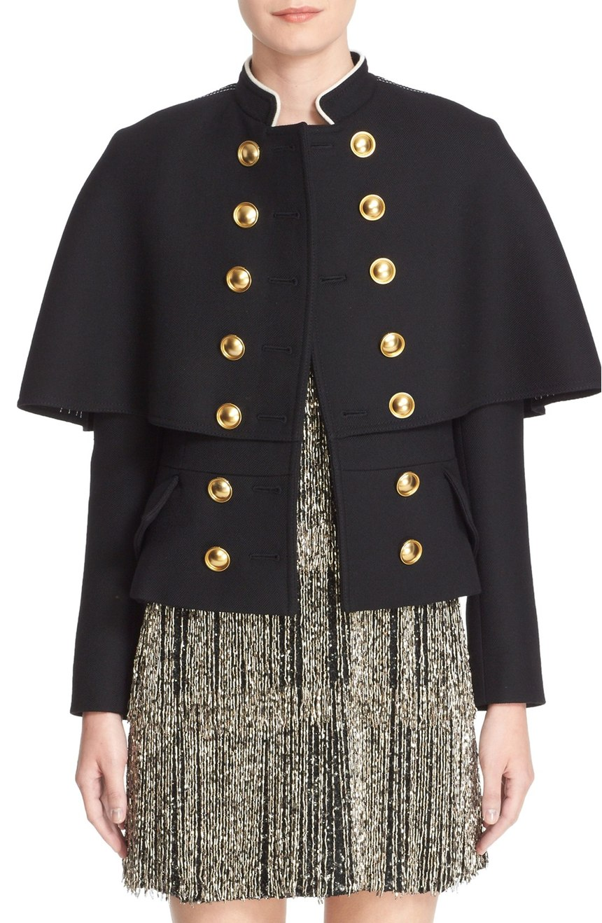 Burberry Prorsum Military Cape Coat