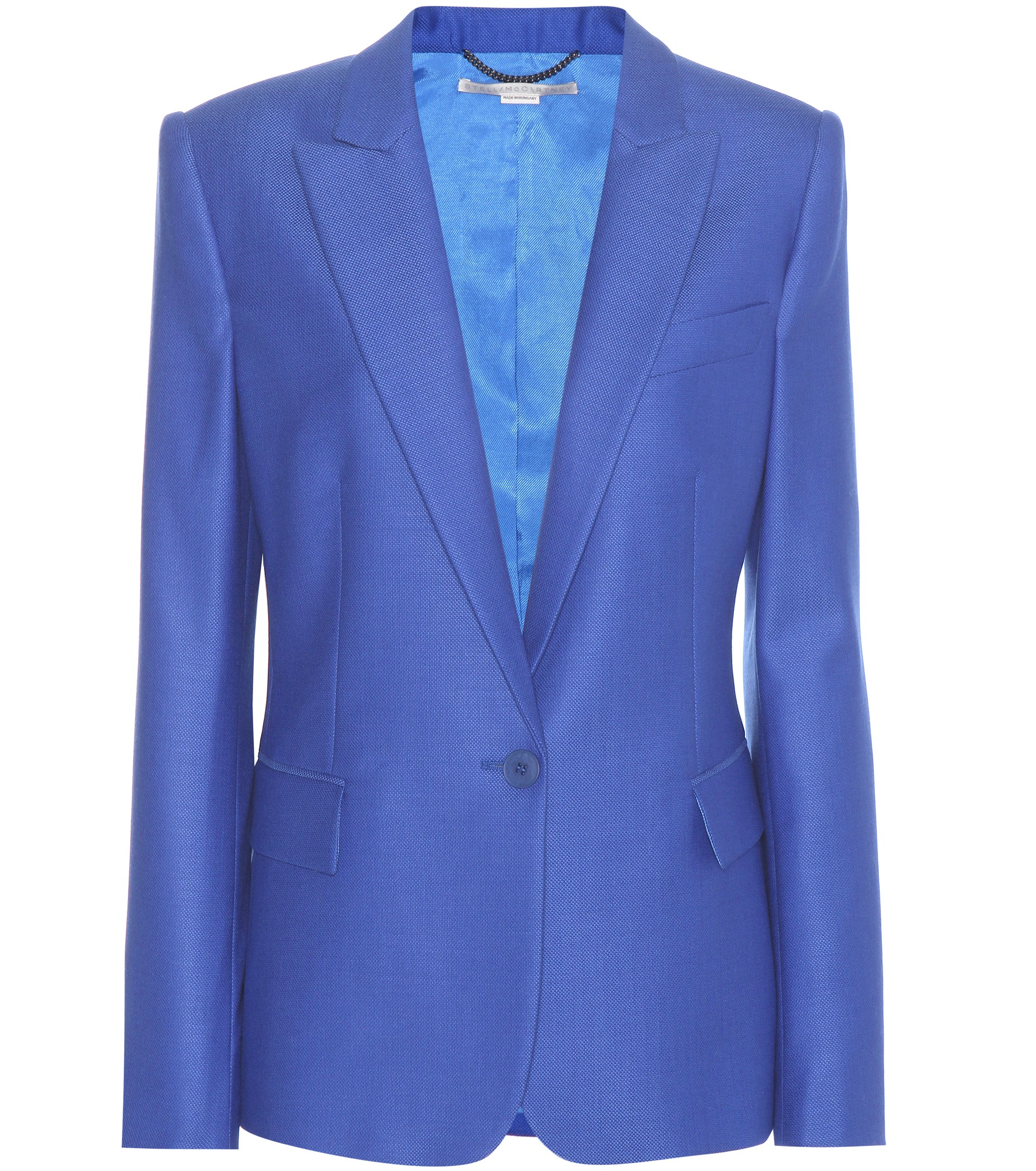 Cornflower blue Stella McCartney Ingrid wool blazer blue Stella McCartney blazer