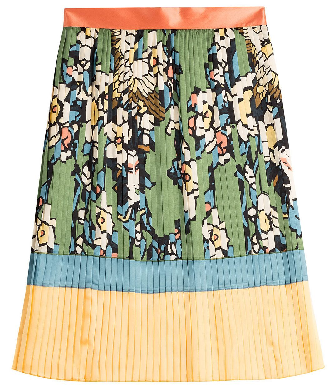 Dsquared2 Printed Silk Pleated Skirt