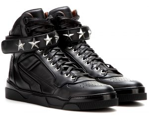 Givenchy black Tyson Stars leather high-top sneakers 950 dollars