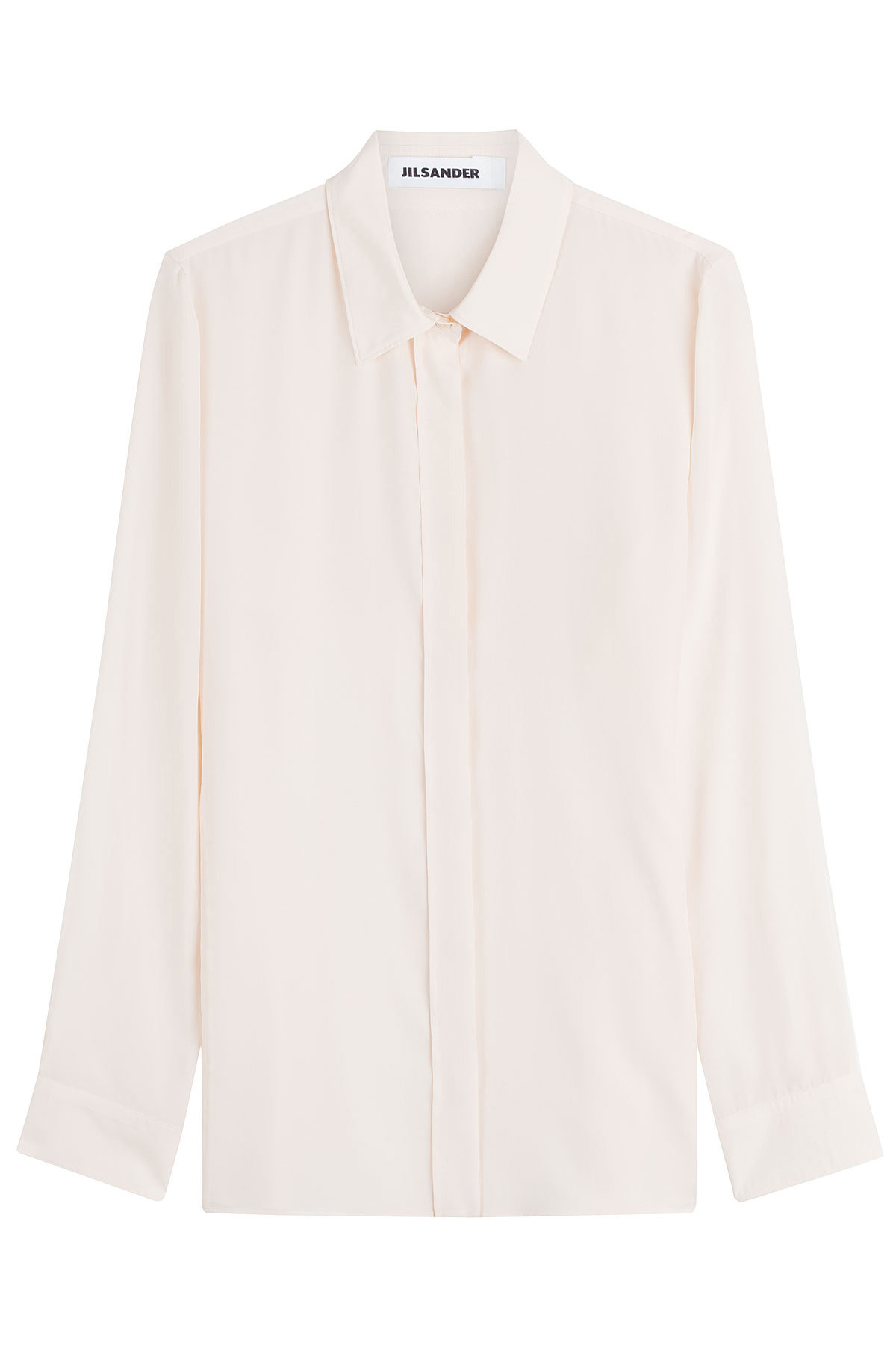 437dac25085b9f ... Marc Jacobs faux leather skirt Guiseppe Zanotti platform sandals. Jil  Sander ivory white silk blouse
