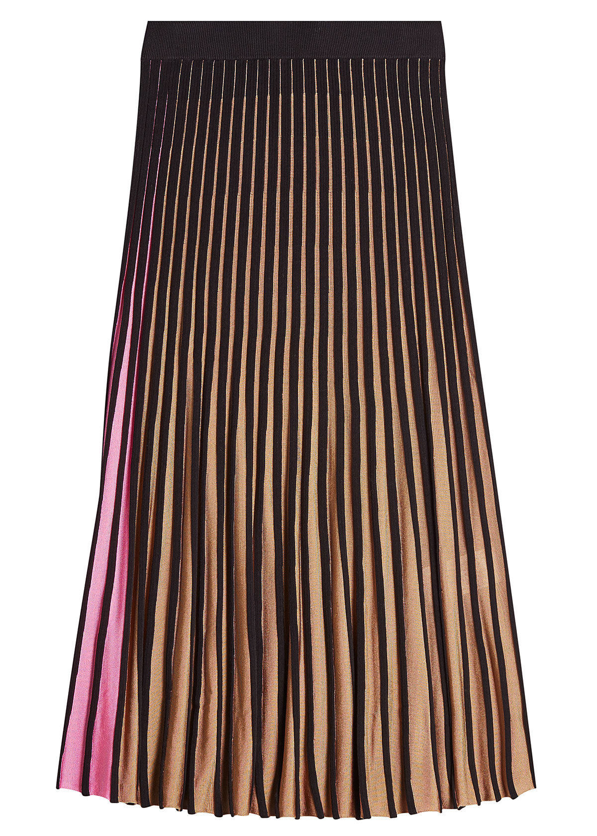 Kenzo contrast colors pleated midi skirt 319
