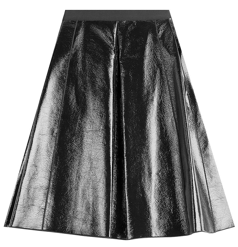 Marc Jacobs black faux leather skirt