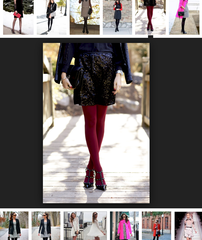 burgundy opaque tights with Valentino rockstud pumps
