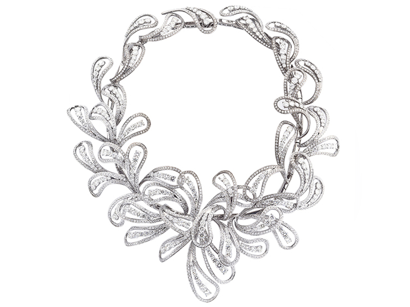 Cantamessa white gold and diamonds Pavlin necklace