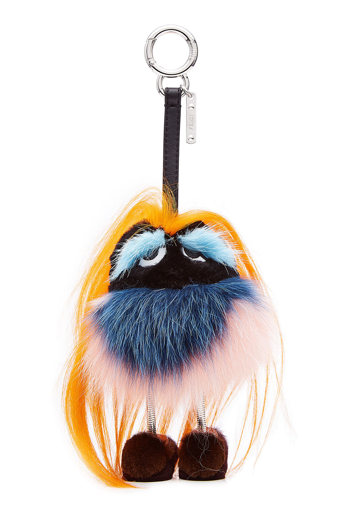 Fendi bag charm Bag Bugs Key Charm with Fur