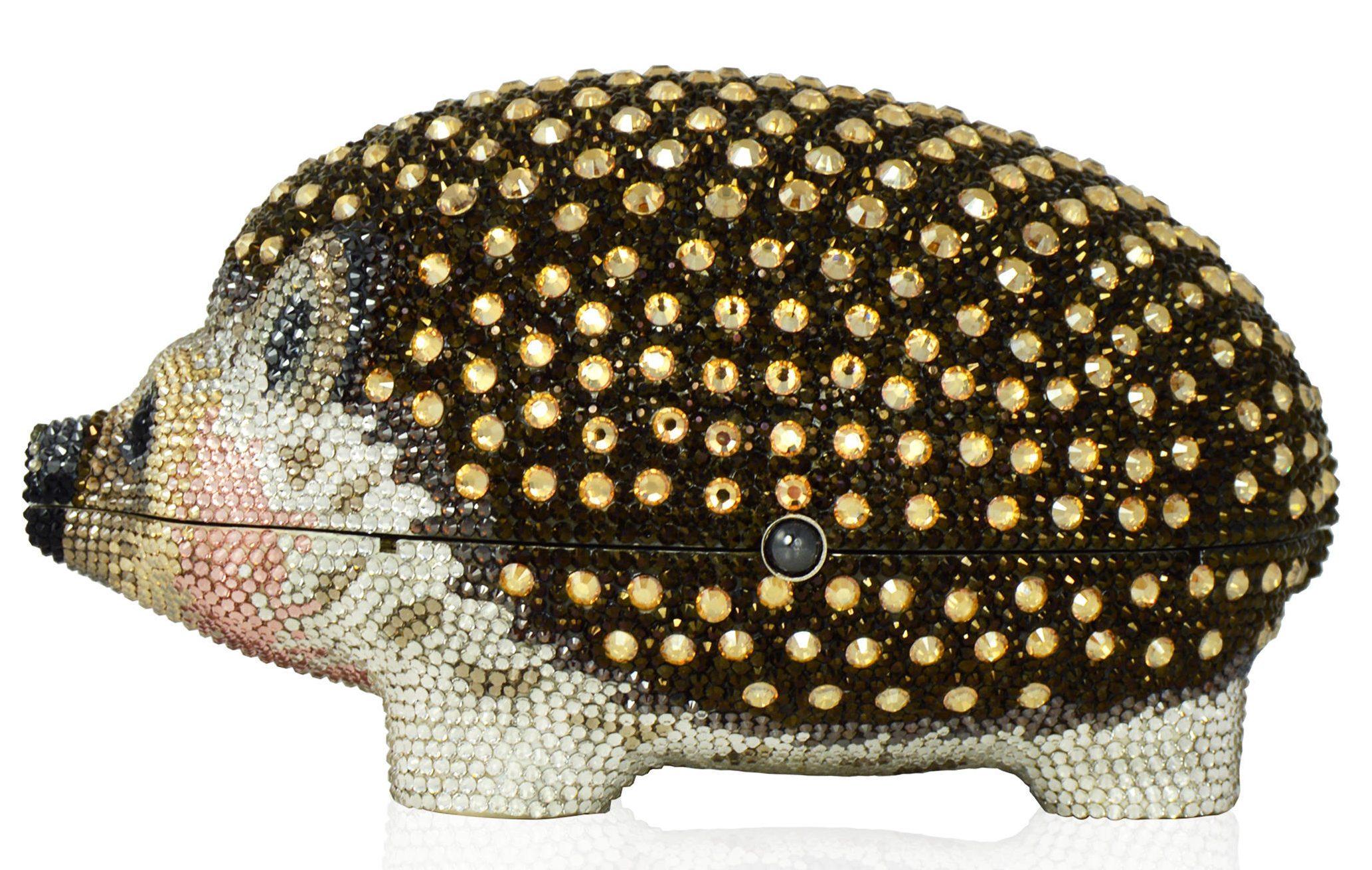Judith Leiber Coutur Crystal Clutch Wilbur the Hedgehog