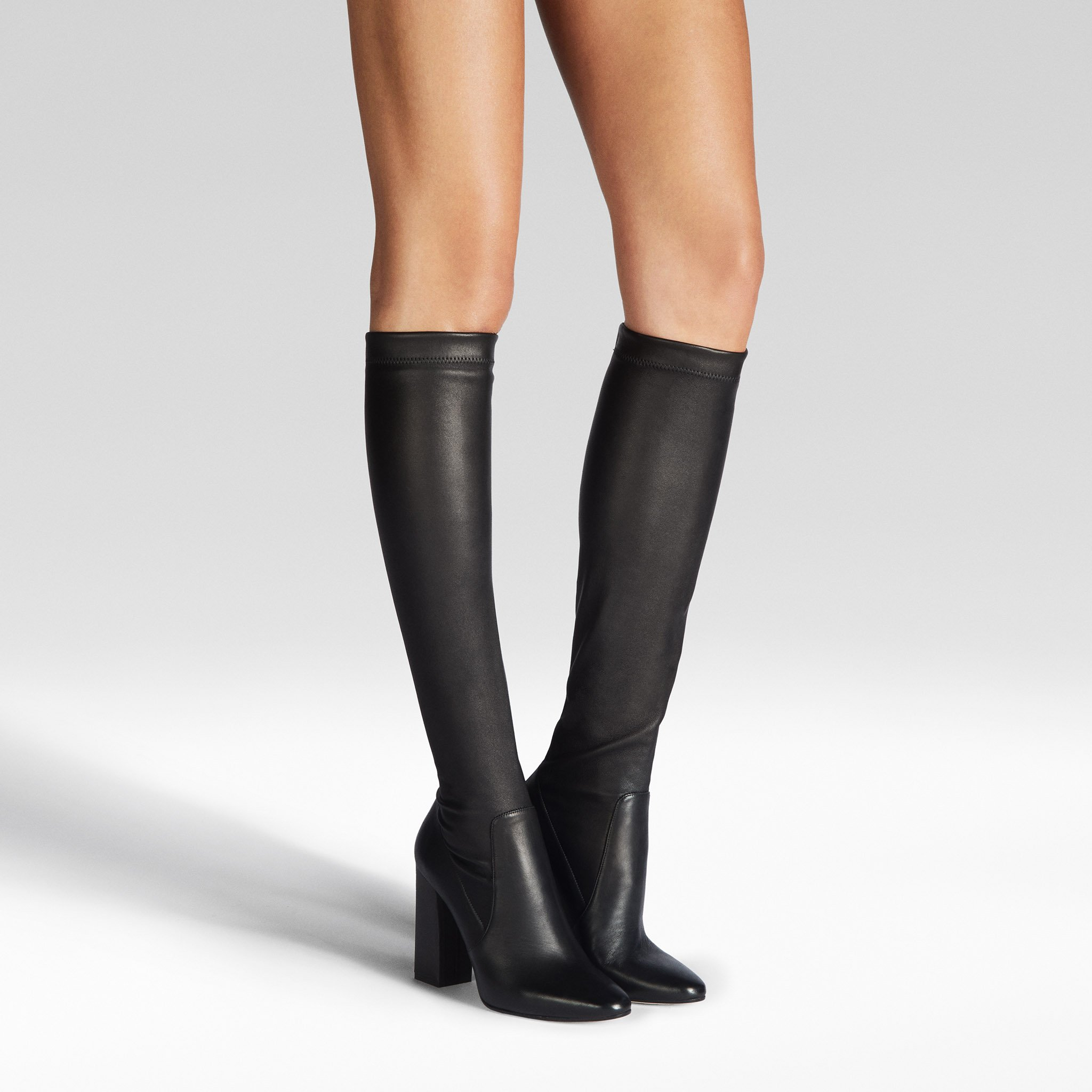 Tamara Mellon Helmut knee high stretch nappa leather boots