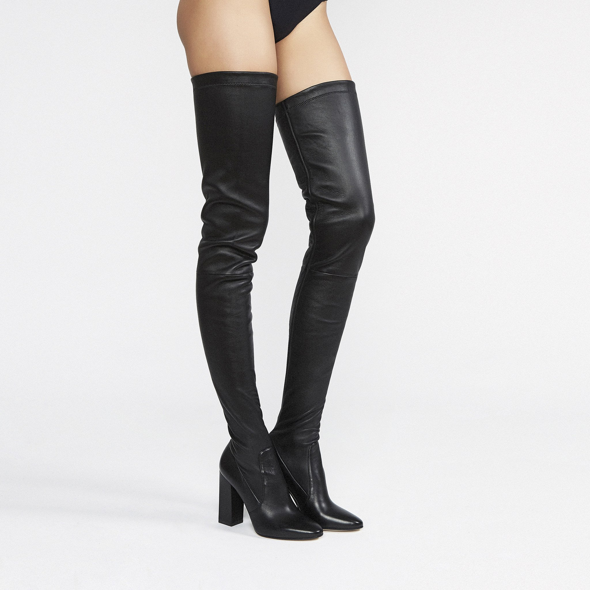 Tamara Mellon Helmut thigh high stretch nappa leather boots