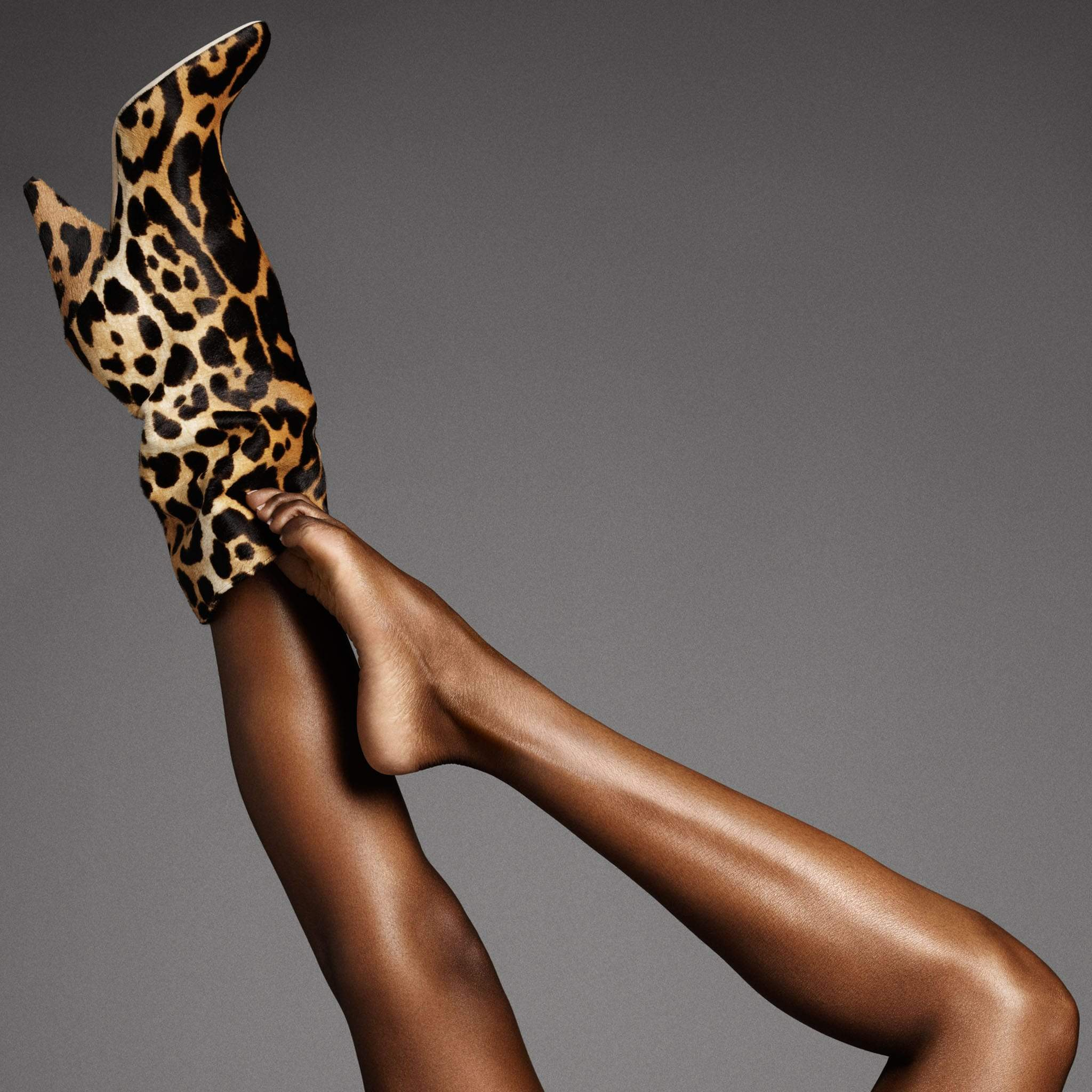 Tamara Mellon Kindred boots in leopard print