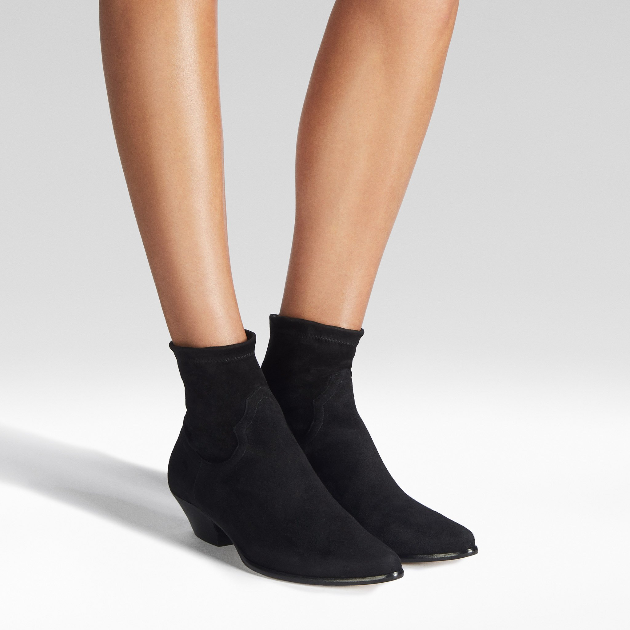 Tamara Mellon boots - stretch suede Go West ankle boots