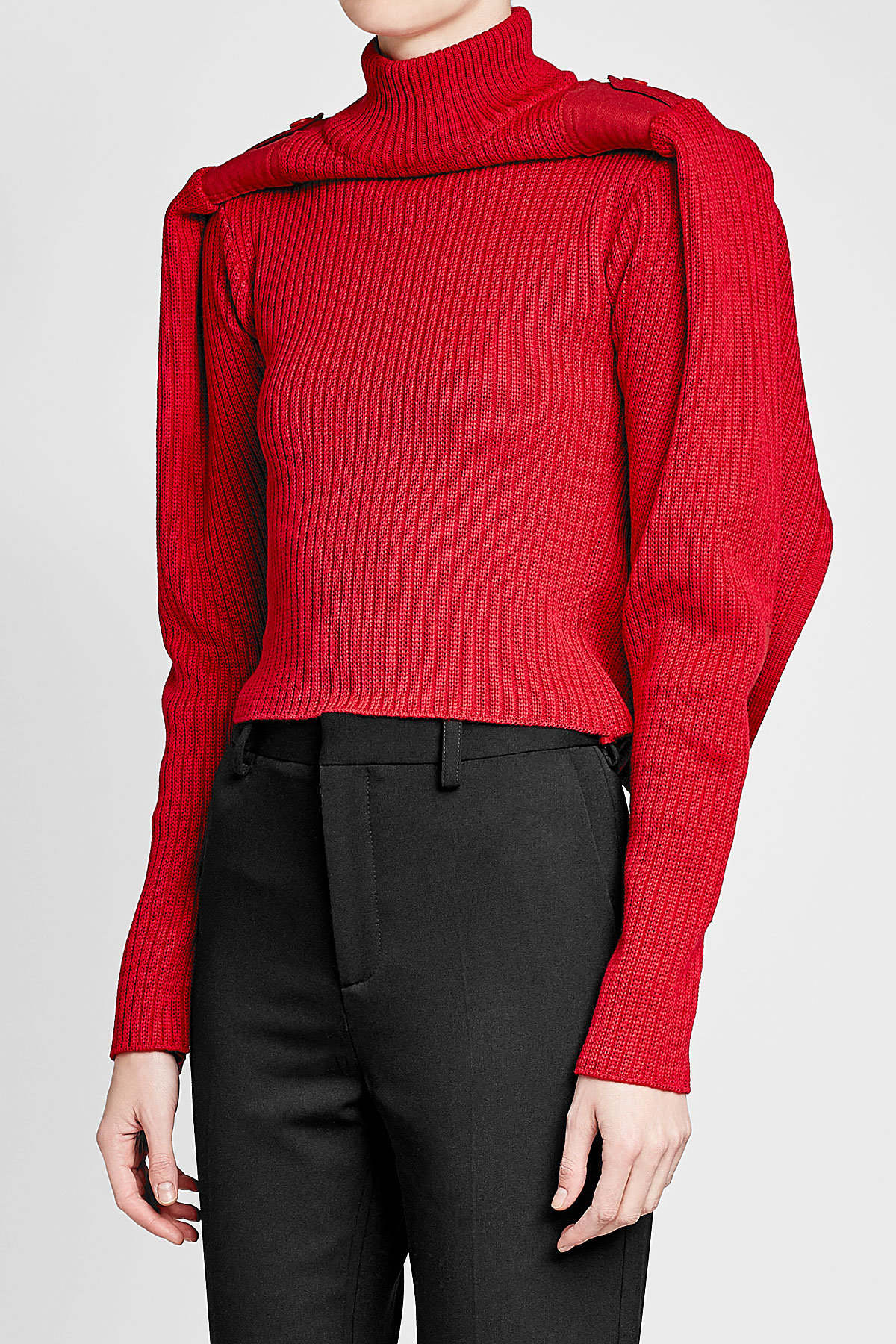 Y Project red Cotton Turtleneck Pullover rollneck sweater