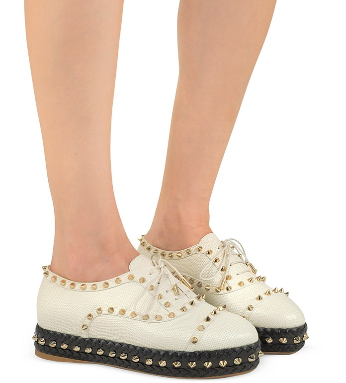 Charlotte Olympia Hoxton Leather Platform oxford shoes for women