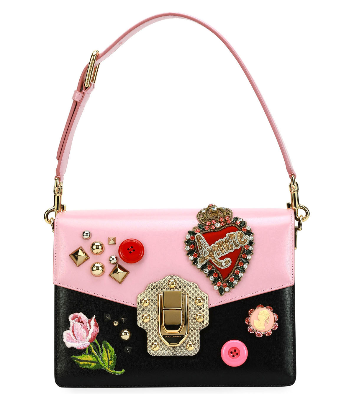 Dolce & Gabbana Lucia Vintage Embellished Shoulder Bag