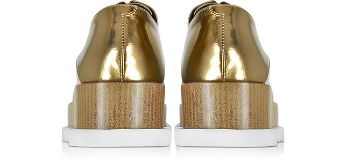 Jil Sander Bronze Leather Platform Oxford Shoe bck