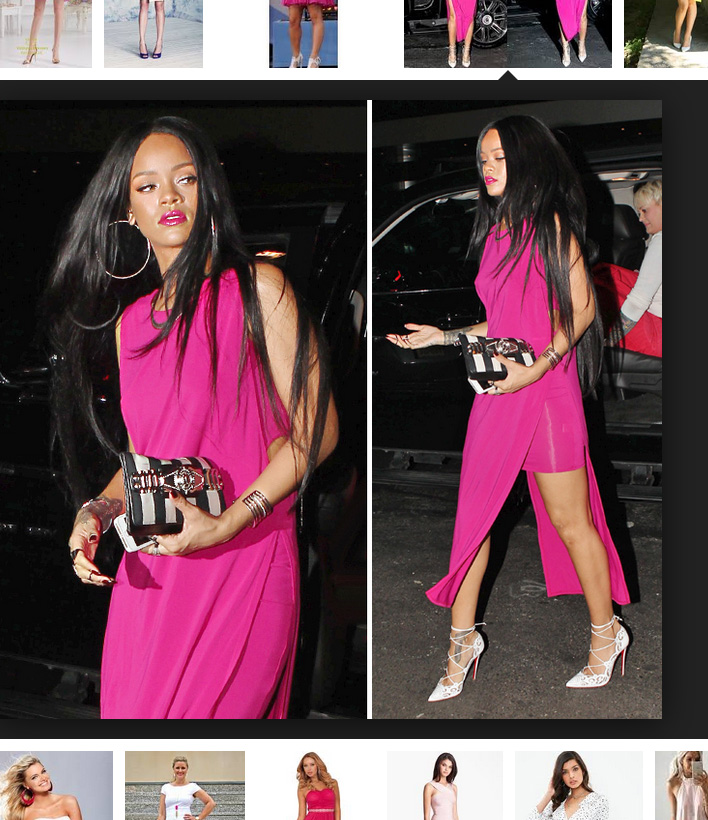 pink dress white shoes - AvenueSixty