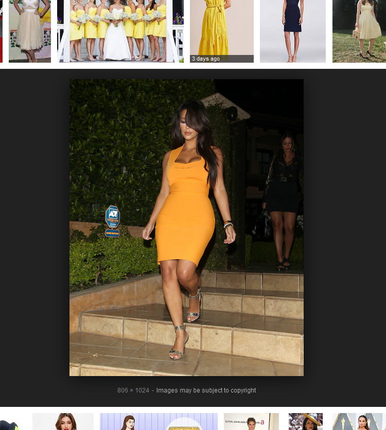 what color shoes to wear with a yellow dress - Kim Kardashian mustard yellow dress with silver strap sandals