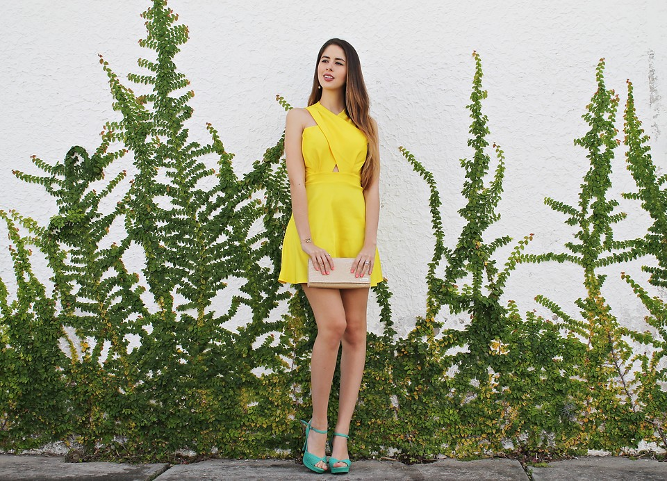 Maria Lucia Barrueta Fashion Blogger and Youtuber Letters to Lucia Tachira Venezuela yellow dress green shoes