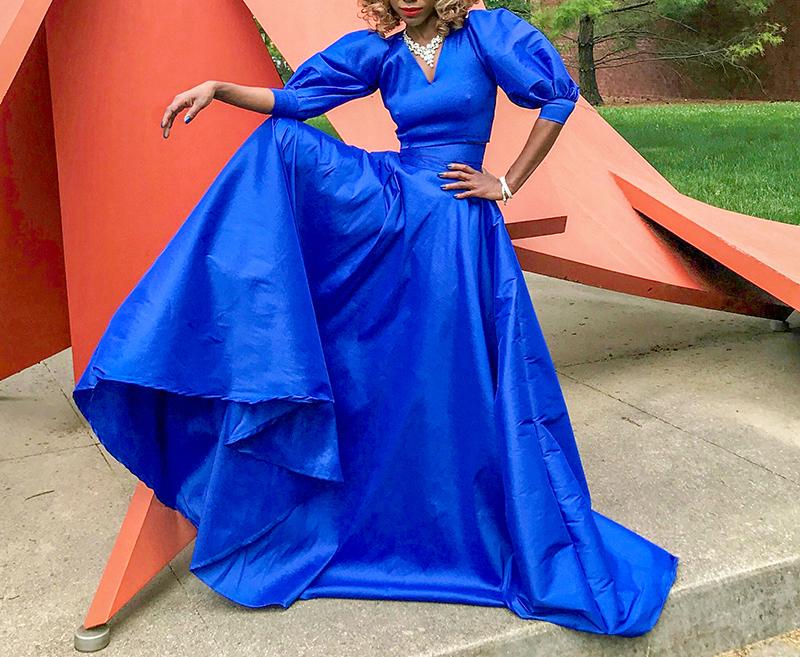 monica lady in blue